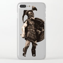 Greek hoplite warrior Clear iPhone Case