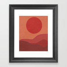 Red Hills Framed Art Print