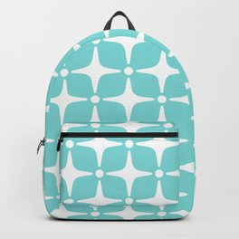 Mid Century Modern Star Pattern 731 Turquoise Backpack
