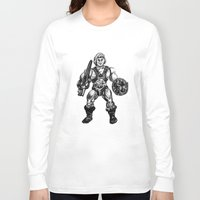 he man Long Sleeve T-shirts featuring HE-MAN by Furry Turtle Creations