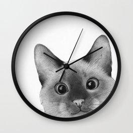 Siamese sneak-a-peek Wall Clock