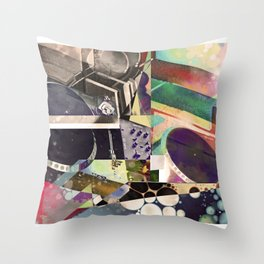 Psychedelic Music Throw Pillow