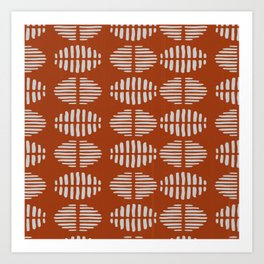 Burnt Sienna Pattern Design Art Print