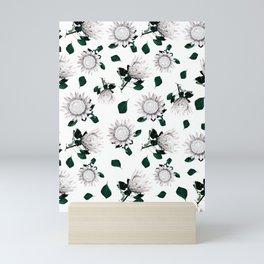 Protea Floral Pattern Mini Art Print