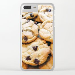 Chocolate Chip Cookies Clear iPhone Case