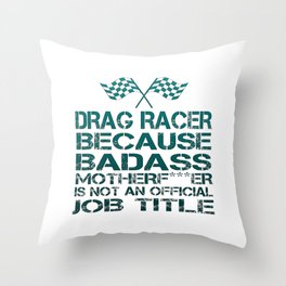 Drag Racer Throw Pillow