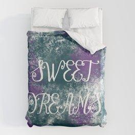 Sweet Dreams Paint Splatter Duvet Cover