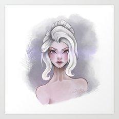 The White Girl Art Print