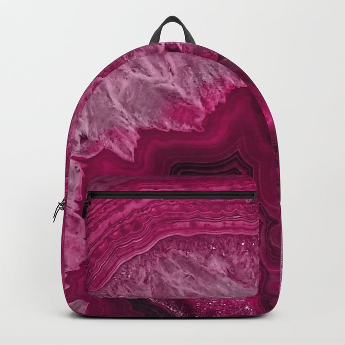 Pink purple agate mineral gem stone- Beautiful backdrop Backpack