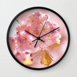 Sakura - Cherryblossom - Cherry blossom - Pink flowers Wall Clock