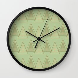 Winter Hoidays Pattern #10 Wall Clock