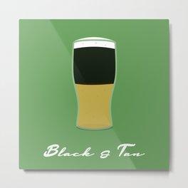 Black and Tan Metal Print