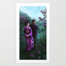 Sakura Garden Art Print