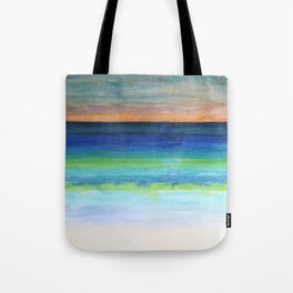 White Beach at Sunset Tote Bag