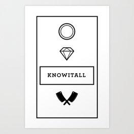 Knowitall Art Print