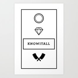 Knowitall Art Print