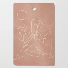 Engraved Nude Line I Cutting Board