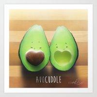 avocado Art Prints featuring Avocado by Kurt Chang