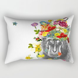 Gorilla in the Garden Rectangular Pillow