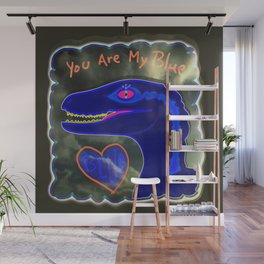 You Are My Blue Dinosaur Wall Mural