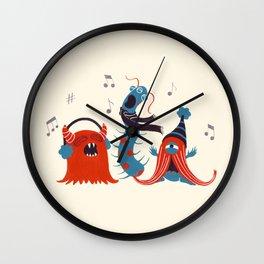 Three Monsters Singing Wall Clock