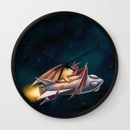 The Dragon's Rocketship Wall Clock