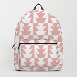 Art Deco Jagged Edge Pattern Dusty Rose Backpack