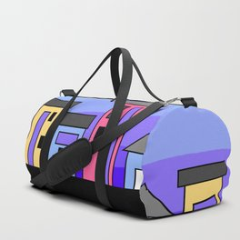 Pastel Evening Houses Duffle Bag