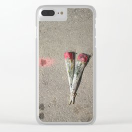Say it with flowers Clear iPhone Case