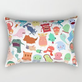 Little Beings in a Square Rectangular Pillow
