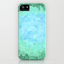Watercolor Sea Glass Art iPhone Case