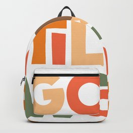 "Gobble ""til You Wobble Thanksgiving Type Design Backpack"