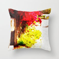 Down by the Mailboxes Throw Pillow