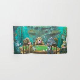 Pinnipeds Playing Poker Hand & Bath Towel