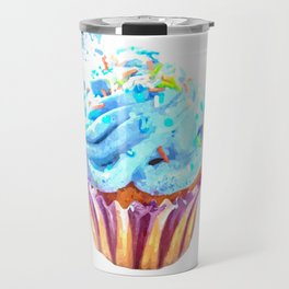 Cupcake watercolor illustration Travel Mug