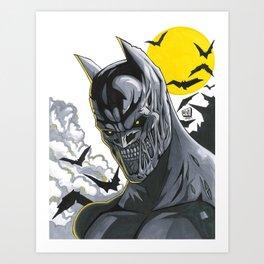 Zombie Bat-Man Art Print