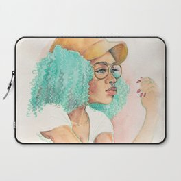 Minty Curls Don't Care Laptop Sleeve