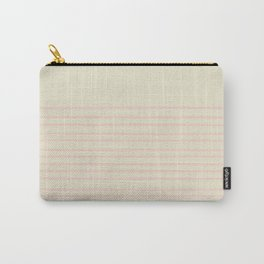 Pink Summer Stripes Carry-All Pouch