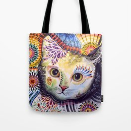 Lucy ... Abstract cat pet animal art Tote Bag