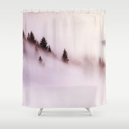 Foggy Mountains Shower Curtain