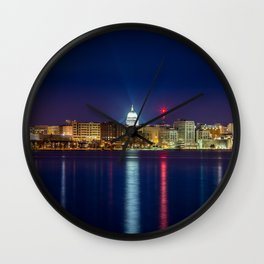 Madison at Night Wall Clock