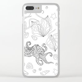 zen octopus under water Clear iPhone Case