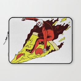 Surfer Pizza Skull Laptop Sleeve