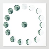 moon phases Canvas Prints featuring Phases by Hope