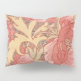 William Morris Poppies Floral Art Nouveau Pattern Pillow Sham