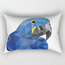 Hyacinth Macaw Blue parrot Birds and animals art Rectangular Pillow