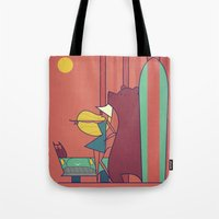 surf Tote Bags featuring SURF by Ale Giorgini
