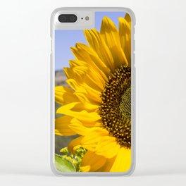 Sunny Sunflower Clear iPhone Case