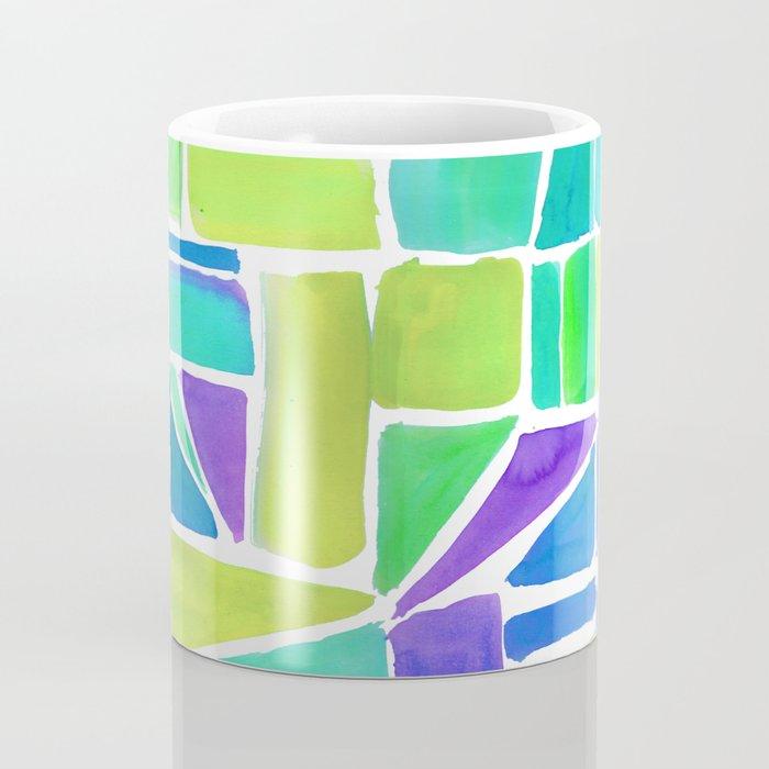 Watercolour Shapes Lemon Coffee Mug