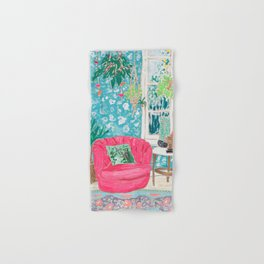 Pink Tub Chair Hand & Bath Towel